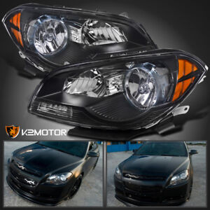 2008 2012 Chevy Malibu Sedan Black Clear Headlights Amber Signal Corner