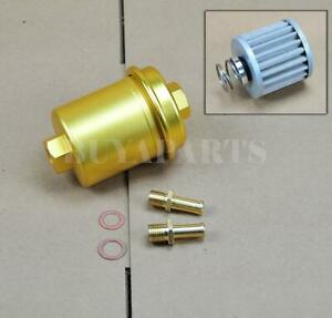 Universal High Performance Racing Fuel Filter 200psi Turbo Charger N a Gold