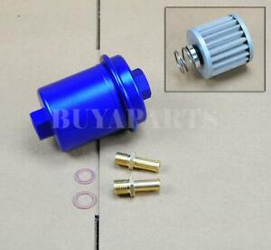 Universal High Performance Racing Fuel Filter 200psi Turbo Charger N A Blue