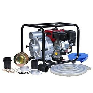 A ipower Awp80 Gasoline Trash Water Pump 208cc 7 0hp Smooth Gas Engine New