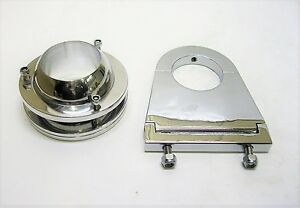 Universal 2 Swivel Base Floor Mount 3 1 2 Chrome Steering Column Drop Combo