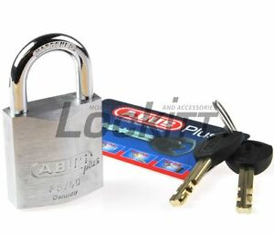 Abus 88 40 Padlock With 2 Plus Keys And Code Card 5 16 8mm Shackle