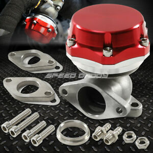 35mm 38mm Turbo Charger Manifold Red 8 Psi Compact 2 Bolt External Wastegate Kit