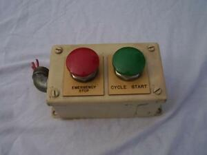 Emergency Stop And Start Mushroom Switch Push Station Red And Green