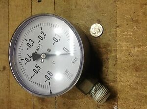 4 Inch Vacuum Gage 0 To 0 60 Bar En 837 1 Kl 1 0 Process Equipment Stainless