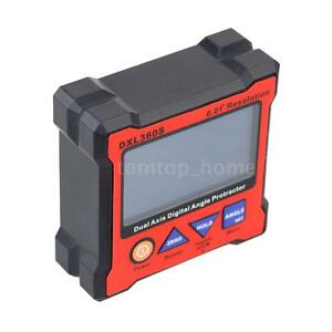 Dxl360s Dual Axis Lcd Digital Protractor Inclinometer Angle Gauge Eu Plug M9w0
