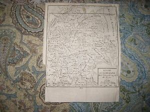 Early Antique 1750 Russia In Europe Vaugondy Map Date In Title Moscow Kasan Rare