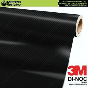 3m Di Noc Black Carbon Fiber Vinyl Sheet Flex Wrap Film Roll Adhesive Ca 421