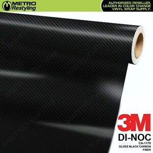 3m Di Noc Gloss Black Carbon Fiber Vinyl Sheet Flex Wrap Film Adhesive Ca 1170