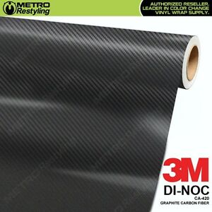3m Di Noc Graphite Carbon Fiber Vinyl Sheet Flex Wrap Film Roll Adhesive Ca 420