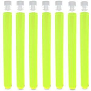 16x150mm Ps Plastic Test Tube Round Bottom Neon Green pack 100 Karter Scient