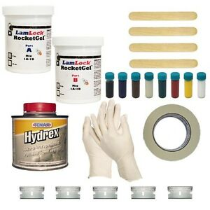 Lamlock Rocketgel Stone Chip Repair Kit With Tenax Hydrex Sealer