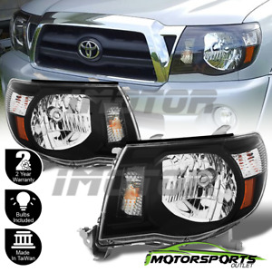 For 2005 2011 Toyota Tacoma Trd Style Black Headlights 2006 2007 2008 2009 2010