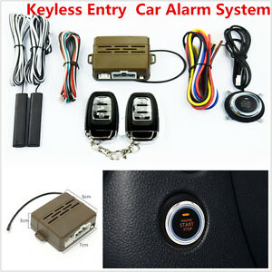 Autos Car Alarm System Passive Keyless Entry Engine Ignition Push Button Remote