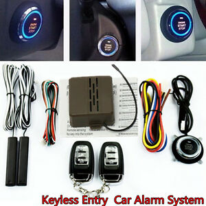 Car Auto Suv Alarm System Security Keyless Entry Push Button Remote Engine Start
