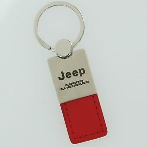 Jeep Grand Cherokee Red Leather Key Ring
