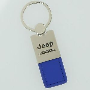 Jeep Grand Cherokee Blue Leather Key Ring