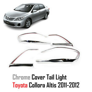 Chrome Rear Tail Light Lamp Cover Fit For Toyota Corolla Altis 2010 2012