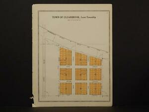 Minnesota Clear Water County Map Town Of Clearbrook 1912 Y7 12