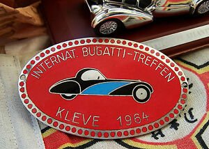 International Bugatti Meeting German Car Badge 1964 Kleve Germany Type 44