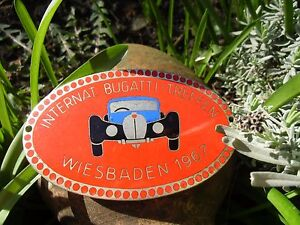 International Bugatti Meeting German Car Badge 1967 Wiesbaden Germany