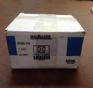 Sealmaster Rfba 110 Four Bolt Flange Bearing 1 5 8 New