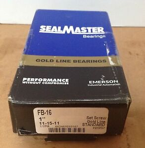 Sealmaster Fb16 Ball Bearing Flange Unit New