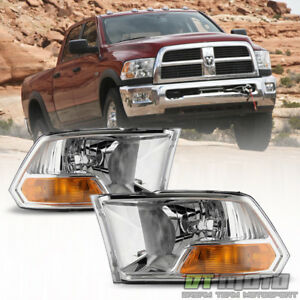 2009 2018 Dodge Ram 1500 2500 3500 Headlights Headlamps Pair 09 18 Left right