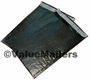 200 2 Black Poly Bubble Mailers Envelopes Bags 8 5x12 Colors Stand Out
