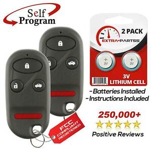 2 For 1998 1999 2000 2001 2002 Honda Accord Keyless Entry Remote Key Fob