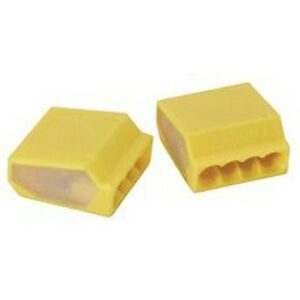 Preferred Industries 602867 Push In Wire Connectors Yellow 500 Per Bag New
