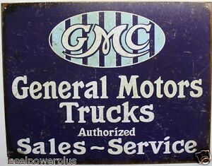 Gmc Tin Metal Sign General Motor Truck Sale Service Garage Shop Poster Gm 2069