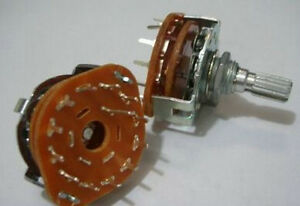 55pc Rotary Switch Potentiometer 1 Pole 12 Position 12ps