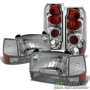 1992 1996 Ford F150 F250 F350 Bronco Headlights bumper Corner Lamps tail Lights