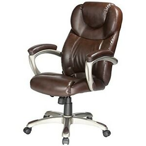 Comfort Products Granton Executive Chair With Adjustable Lumbar Support Brown