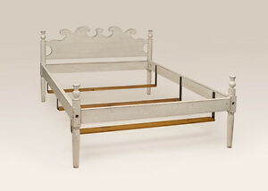 King Size Low Post Bed Frame White Antique Style Furniture Bakersfield