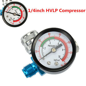 Digital Air Pressure Regulator Gauge Spray Gun 1 4inch Hvlp Compressor 140psi