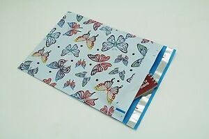 200 Bags 100 10x13 Butterfly 100 10x13 Blue Paisley Designer Poly Mailers