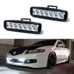 18w High Power 6 Osram Led Daytime Running Light Kit Universal Fit For Car Truck