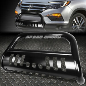 For 16 17 Honda Pilot ridgeline Gen2 Black 3 bull Bar Push Bumper Grill Guard