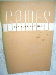 Games For Boys And Men Book 1946 National Recreation Association