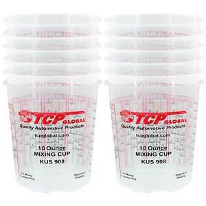 8 Ounce 1 2 Pint Paint Epoxy Mixing Cup Calibrated Ratios Pack Of 12 Cups
