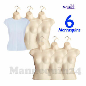 Flesh Mannequin Female Torsos Lot Of 6 Pcs Women s Hanging Dress Forms