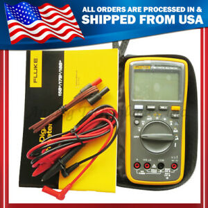 New True Fluke F17b Digital Multimeter W carrying Bag Case