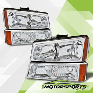 2003 2006 Chevy Silverado 1500 2500 3500 Chrome Headlights Signal Bumper Lights