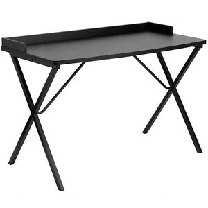 Black Office Table Desk flint Small Computer Desks