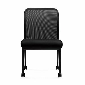Mesh Chairs 11761b Armless Office Guest Chairs With Casters