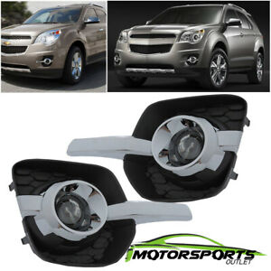 Glass Projector Lens 2010 2016 Chevy Equinox Bumper Fog Lights Driving Lamps