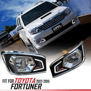 Led Daytime Running Light Lamp Abs For Toyota Fortuner Sw4 2012 2013 2014 2015