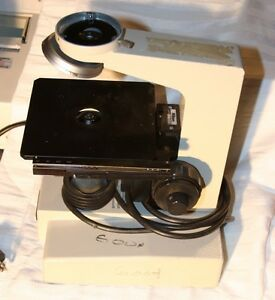 Nikon Microscope 3 Base Turret Adjustable Stage Table 1 25 Head